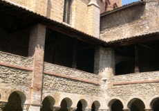 Le cloître de Saint-Lizier.