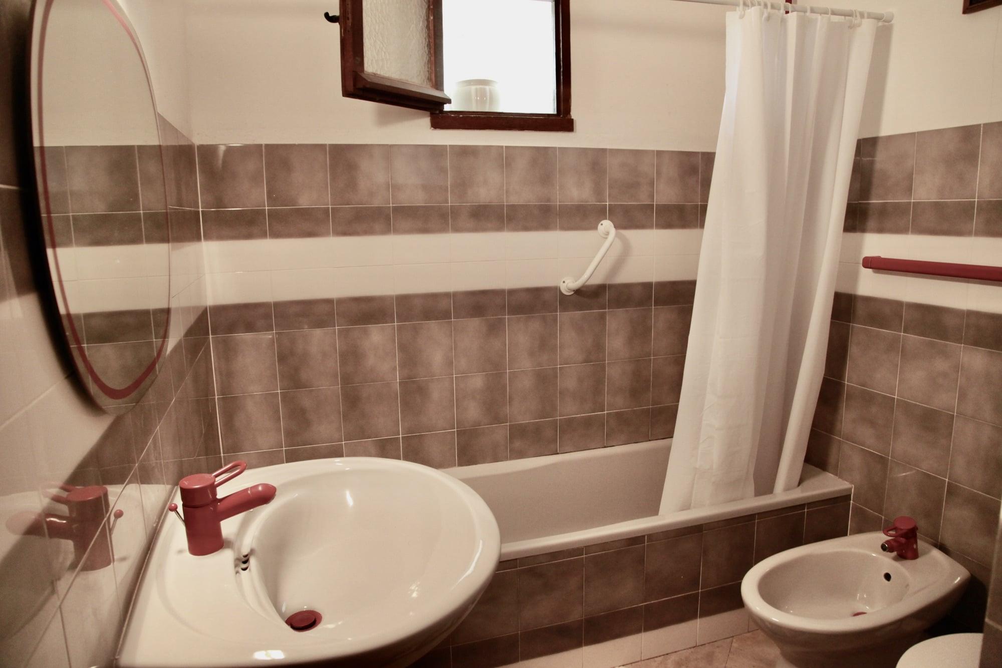 La salle de bains du gîte